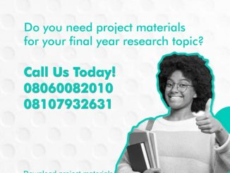 Availability And Utilization Of Biology Laboratory Materials In Secondary Schools In Jos South L.G.A, Plateau State